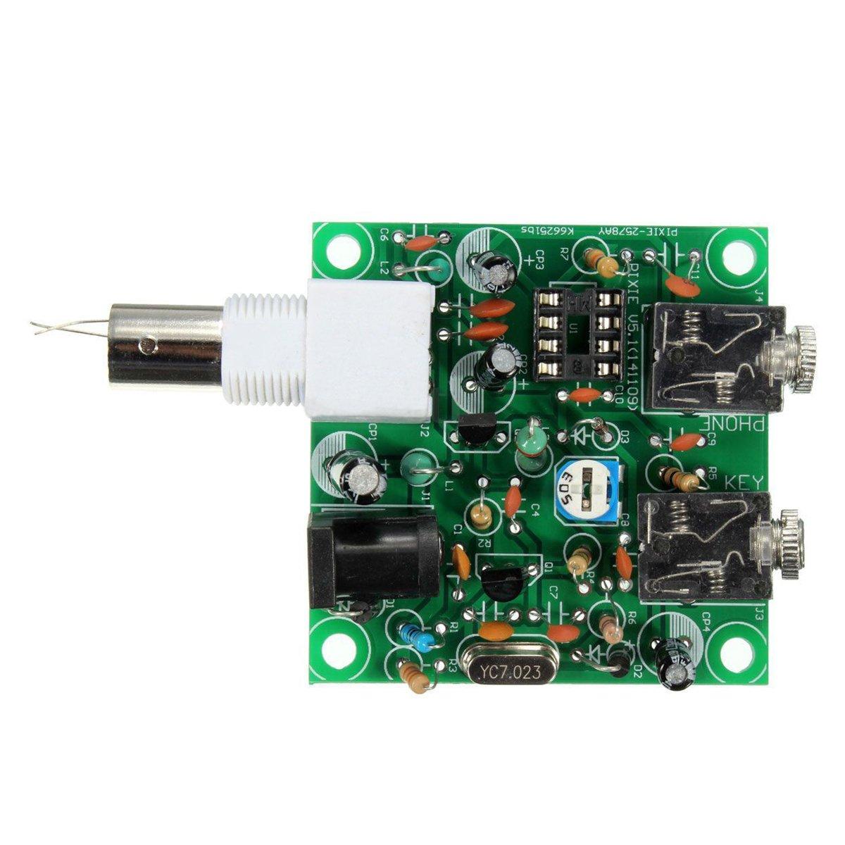 DIY RADIO 40M CW Shortwave Transmitter QRP Pixie Kit Receiver 7.023-7.026MHz K9