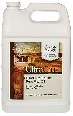 UltraCruz sc-364855 Pure Flax Oil Supplement for Horses and Livestock, 1 Gallon
