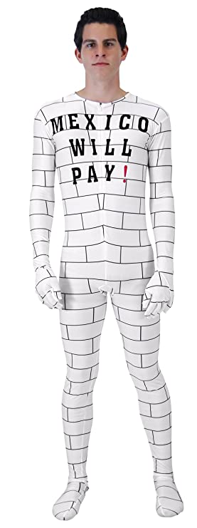 Mexico Will Pay Zip up Costume Jumpsuit (Adult S/M)