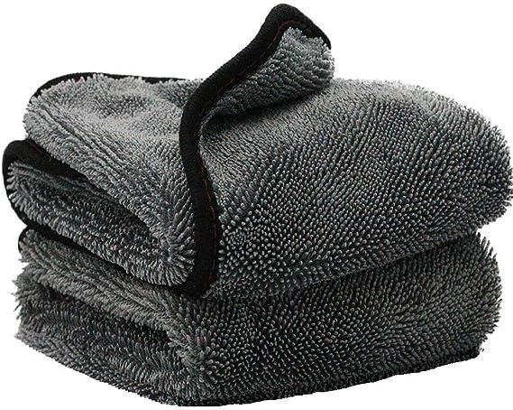 Kingsheep 2x Premium Trockentuch Mikrofasertuch Twisted Pile Extrem Saugstark Und Schonend Weich 100 Fusselfrei Mikrofasertücher 60x50cm 650gsm Reinigungstücher Für Auto Motorrad Auto