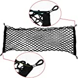 Ideapro Rear Cargo Net, Bungee Car Elastic Netting Carrier with Mounting Screw for SUV Jeep Truck, 35x12-Inch