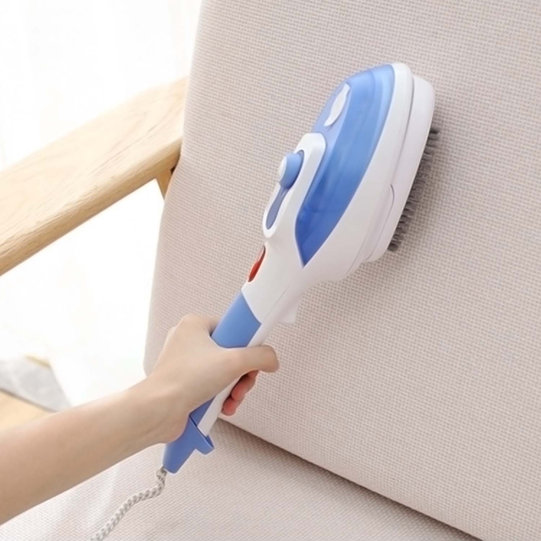 Kangkang@ Portable Hand Held Multi-functional Home Travel Hanging Steam Electric Dry Steamer Iron Steamer Brush EU Plug (blue)