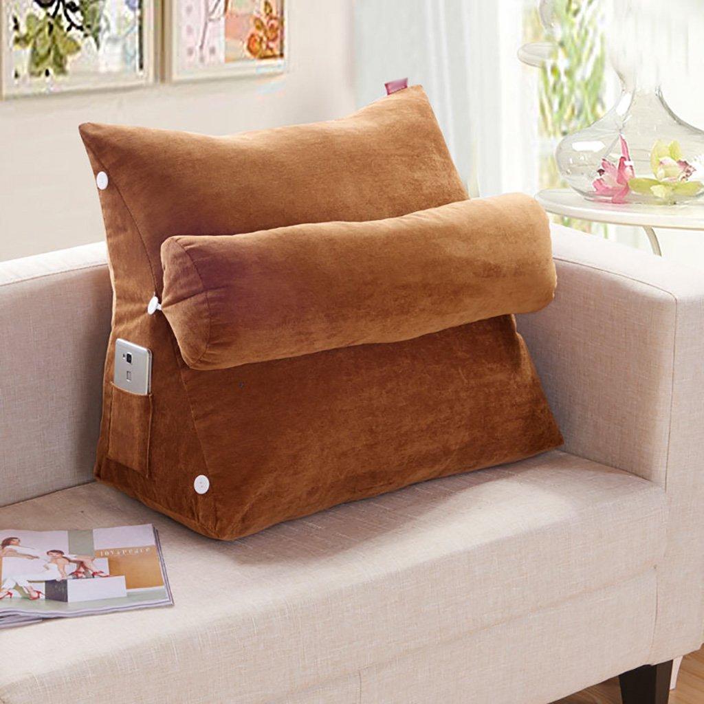 Zxkz lombare triangolare cuscini comodino federa vita cuscini cuscini cuscino cuscini del divano ufficio posteriore in vita rimovibile Wash, Cotone, 48  48  20cm