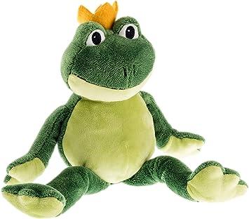 Schaffer 5482 Charles Frog Peluche a Forma di Rana 36 cm Colore: Verde