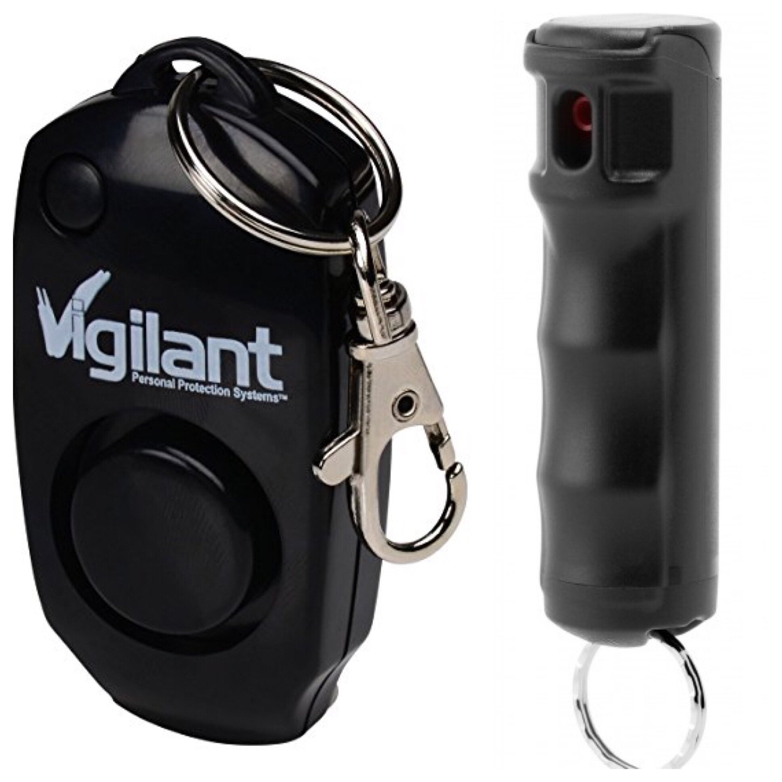 Mace Brand Pepper Spray and Vigilant 130dB Personal Alarm Ultimate MVP Protection Package (MVP Bundle Kit) BLACK