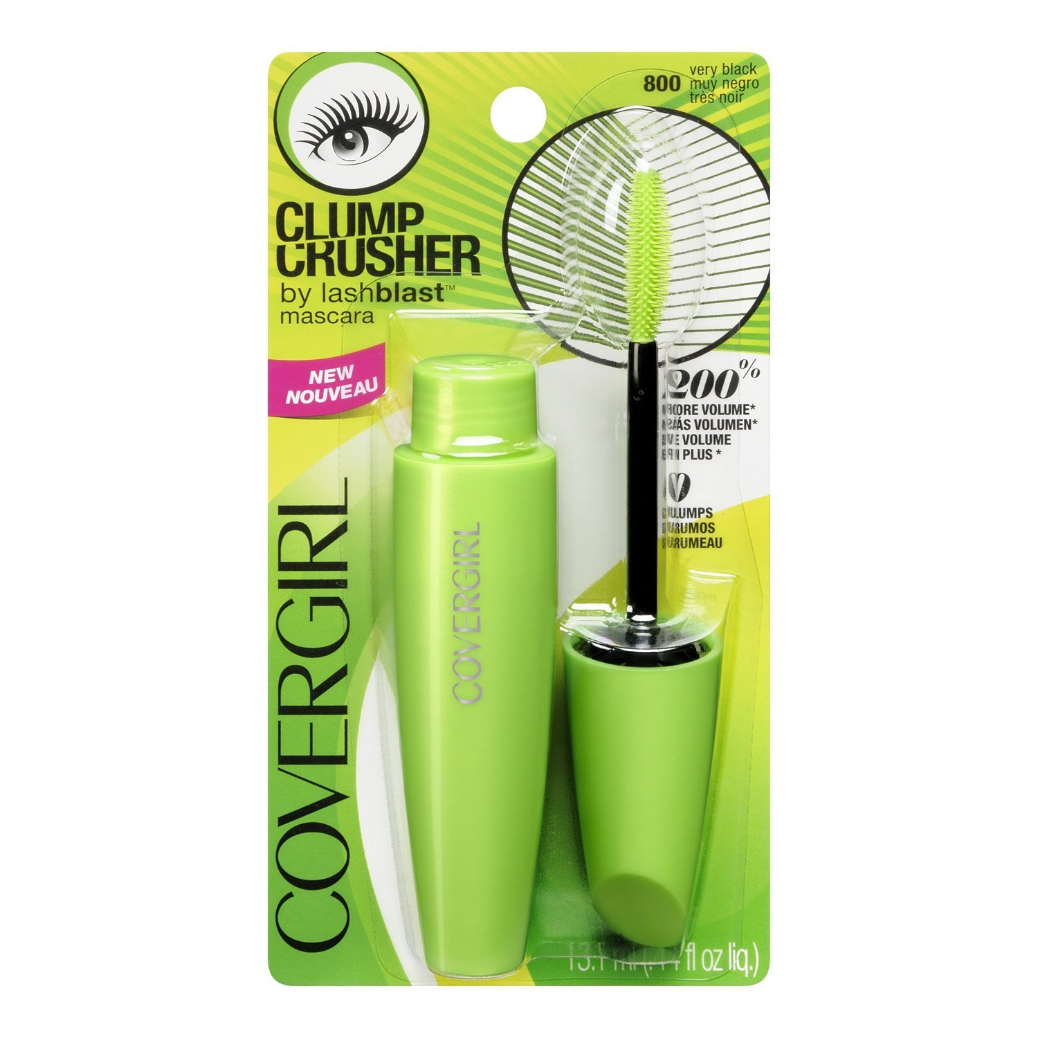 Amazon.com: CoverGirl Clump Crusher Mascara By Lashblast, Very Black [800] 0.44 oz (Pack of 3): Cell Phones & Accessories