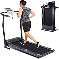 Folding Treadmill for Home, Portable Electric Treadmill Exercise Machine with LCD Display & Pulse Grip, Running Walking…