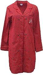 acaa1702ec Laura Scott Womens Red Polka Dot Flannel Nightgown Scottie Dog Sleep Shirt