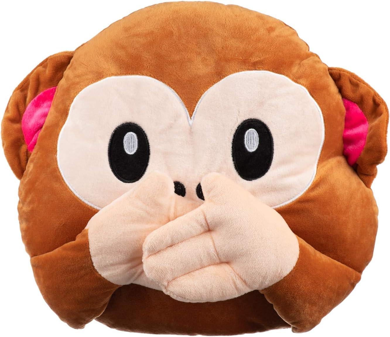 les yeux d/'oreilles Bouche-à singe Smiley 3 in 1 Émoticône Monkey de Emoji Coussin