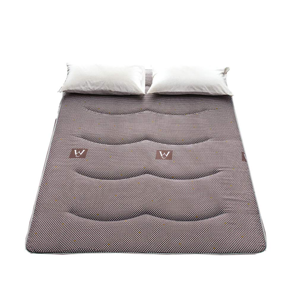 A 120x200cm H 5cm Breathable Mattress Suede Soft, Anti-mite Ergonomic Folding Mattress Rolled Design-B 180x200cm H 5cm
