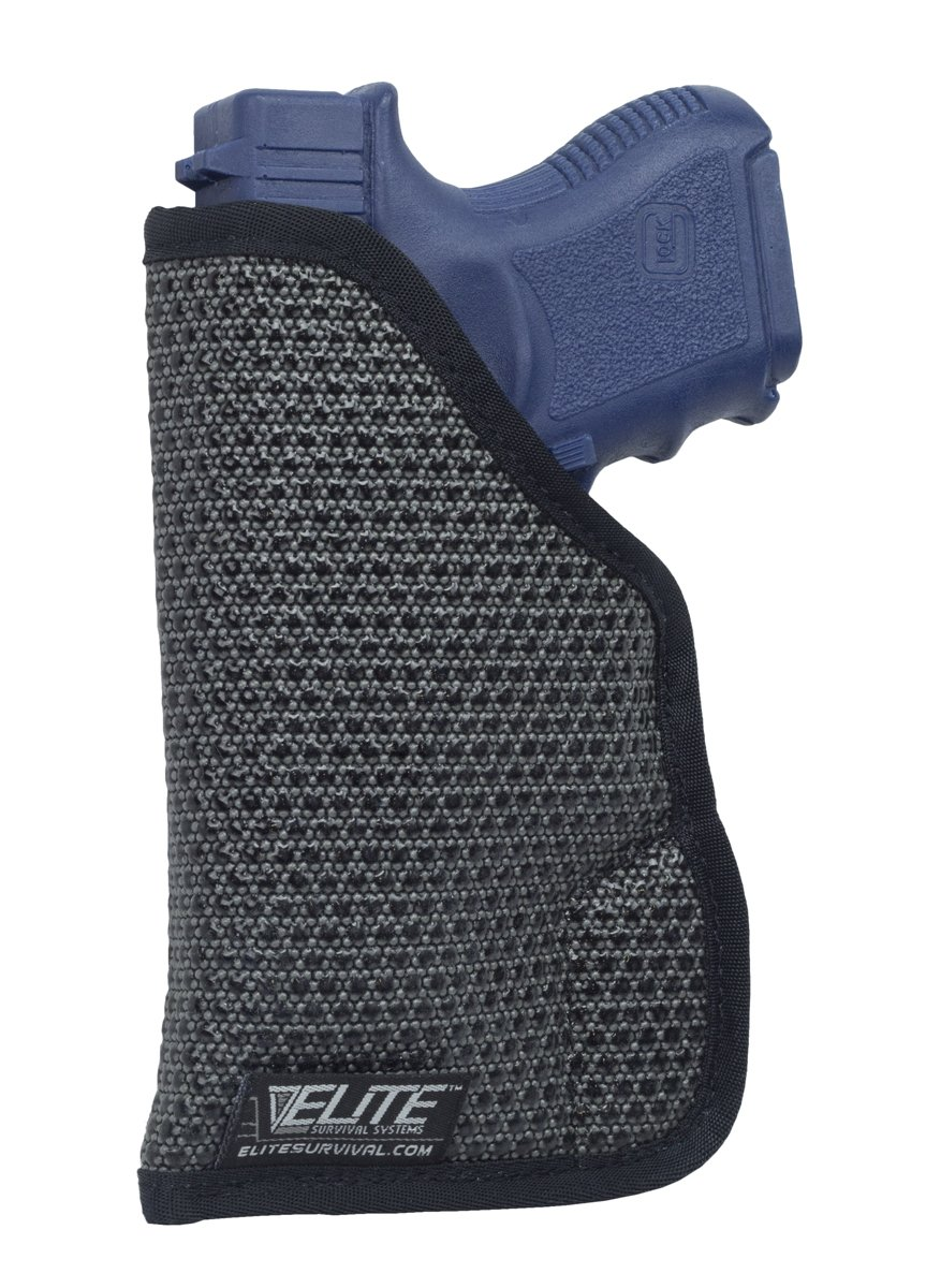 Elite Survival Systems Mainstay Clipless IWB/Pocket Holster Size 7 fits Ruger LC9, Beretta BU9 Nano, Glock 42/43 & More