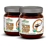 2 Pack Yacon Syrup - 100% Pure Yacon Syrup USDA Organic Natural Sweetener   Rich in Antioxidants, Vitamins, Prebiotics – Boos