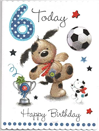 Birthday Card For Six 6 Year Old Boy Free 1st Class Post