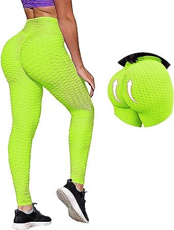 Women Butt Lift Yoga Pants High Waist Anti-Cellulite Gym Workout Ruched Leggings
