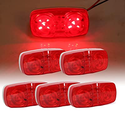 "ECOTRIC LED Trailer Marker 4"" x 2"" Bullseye Lights 