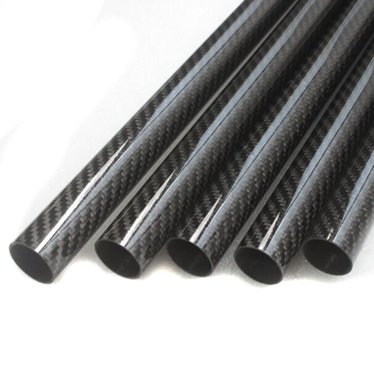 2PC Roll Wrapped Carbon Fiber Tube Glossy Surface 8mm 10mm 12m 8x10x330mm 10x12x330mm 810330mm