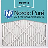 Nordic Pure 20x20x1M14-6 Pleated AC Furnace Air Filter, Box of 6