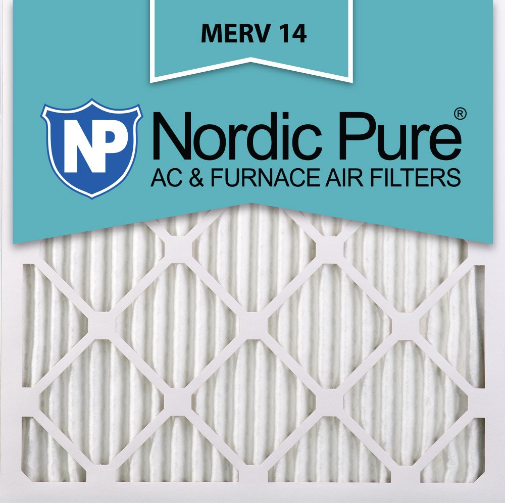 Nordic Pure 12x12x1M14-6 Pleated AC Furnace Air Filter, Box of 6
