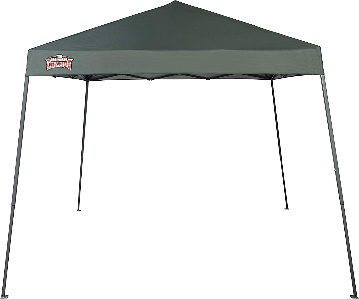 Forest Green Top Backyard Champs Shade 64 10x10 Instant Canopy Gray Frame