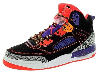 sports shoes 64d75 4aa1a Jordan Nike Kids Spizike Bg Blk/Brght Crimsn/Crt Prpl/Brght Basketball Shoe  5 Kids US