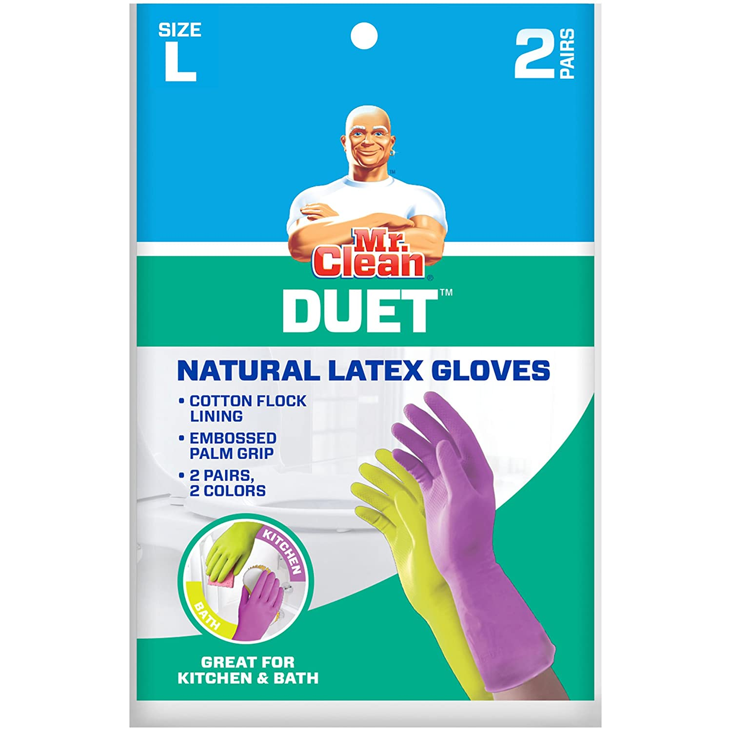 Amazon.com: Mr. Clean Duet, Natural Latex, Beaded Cuff, Cotton Flock ...