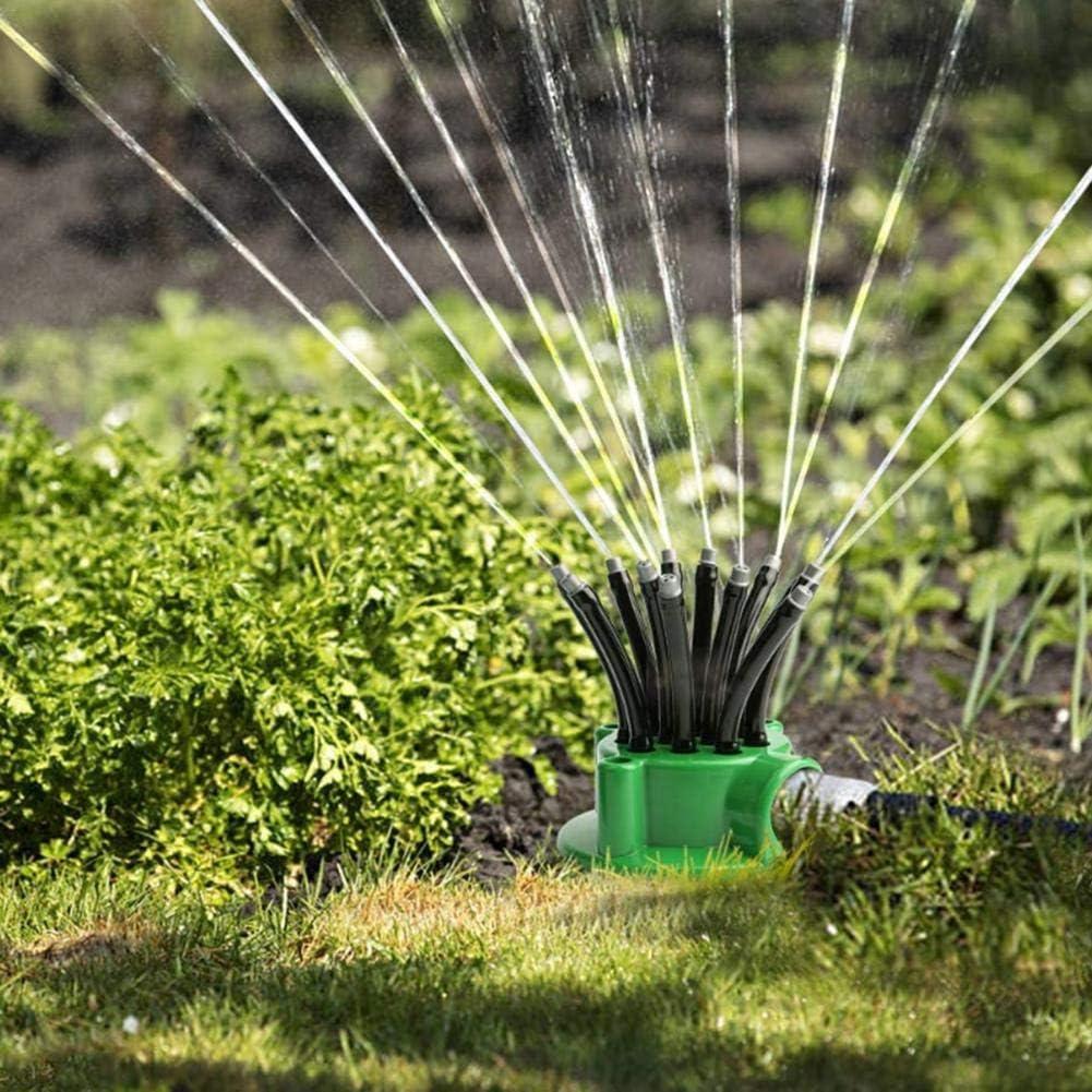 Rango De Rociado De Agua Ajustable De 25㎡-50㎡ Aspersor Autom/ático De C/ésped sunflowerany Aspersor De Jard/ín De 360 Grados Sistema De Riego De Jard/ín
