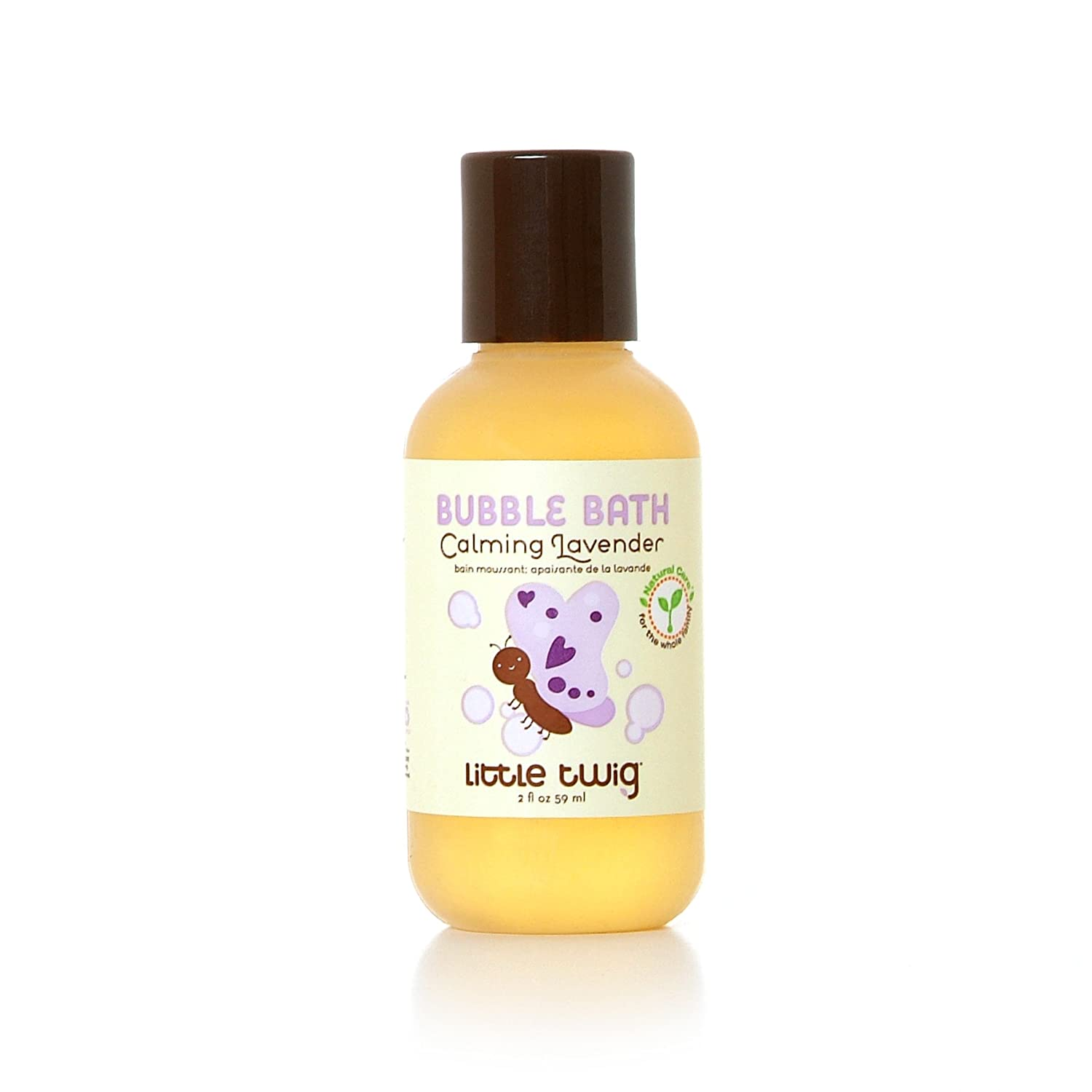 Little Twig All Natural, Hypoallergenic Bubble Bath with A Blend of Lavender, Lemon and Tea Tree Oils, Calming Lavender-Scent, 2-Ounce Bottle BB201