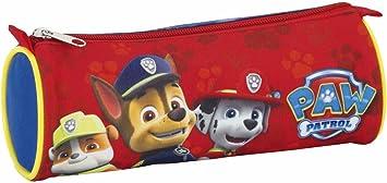 Paw Patrol Patrulla Canina Estuche portatodo Redondo, Color Rojo, 22 cm (SAFTA 811683811): Amazon.es: Juguetes y juegos