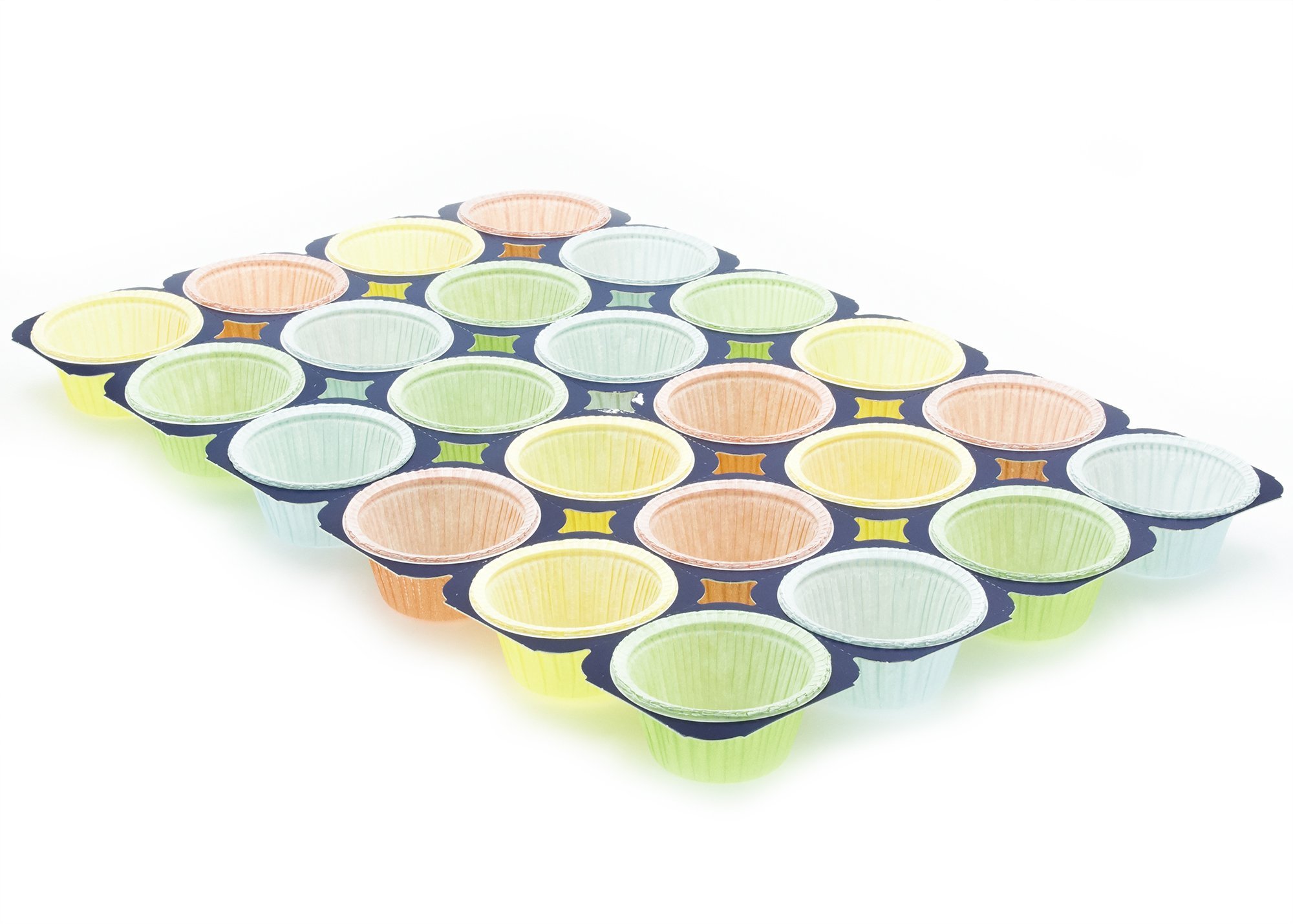 Baking Pan, 24 Cupcakes , Perfect for muffins, cupcake souffle, etc 24cups per Tray 2ozs , MT224ST Multi Colored, 100
