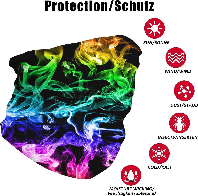 Sportfestivals Fanient Halstuch Nahtloses Stirnband 3D-Druck Multifunktionale Bandana Schlauchtuch Schal Kopftuch Sturmhaube Mund-Tuch f/ür Staub Outdoor