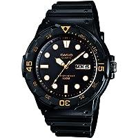 Casio Men's MRW200H-1EV Black Resin Quartz Watch with Black Dial