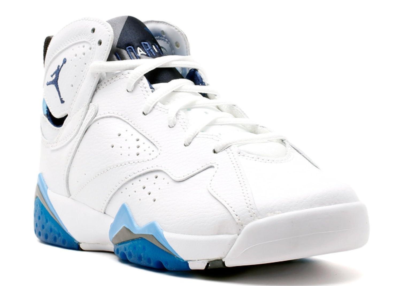 Wht, frnch bl-unvrsty bl-flnt g Nike Men's Air Jordan 5 Retro Basketball shoes