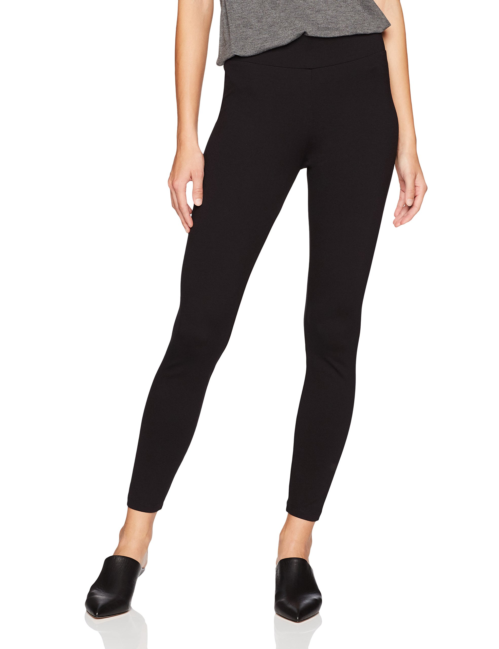 Daily Ritual Women's Ponte Knit Legging, Black, L, Regular