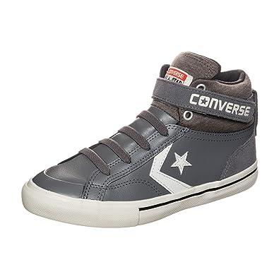 Converse PRO Blaze Strap High Sneaker Bambini, GrigioBianco