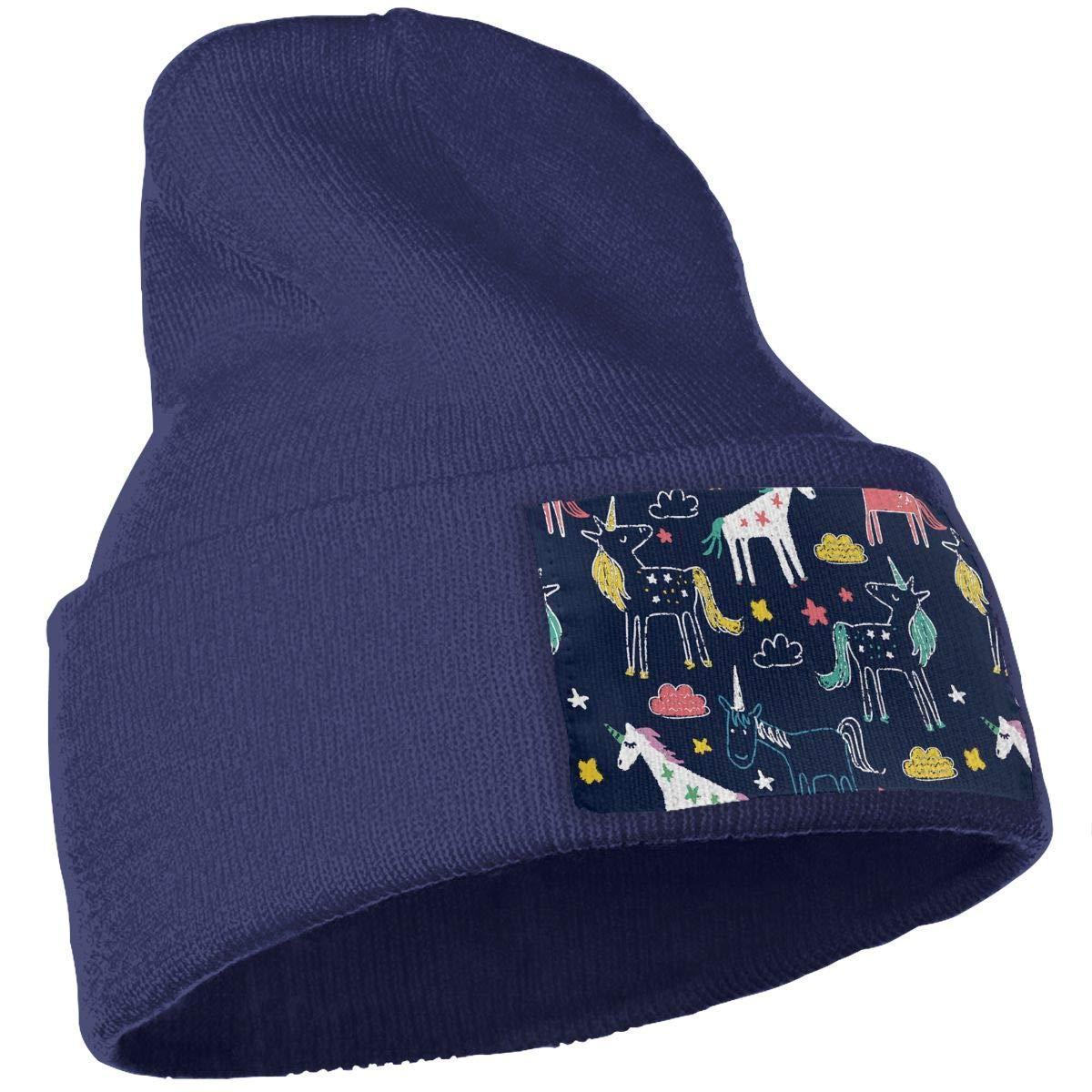 Unicorn Pastel Illustration Unisex Fashion Knitted Hat Luxury Hip-Hop Cap