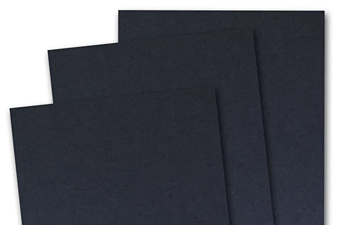 Blank Basic 5x7 inch A7 Card Stock (50 Pack, Black)