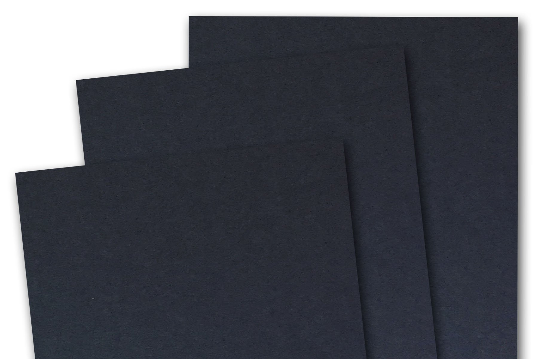 Blank Basic 8 1/2'' x 5 1/2'' inch Half Letter Matte 80# Cover Card Stock (50 Pack, Black)