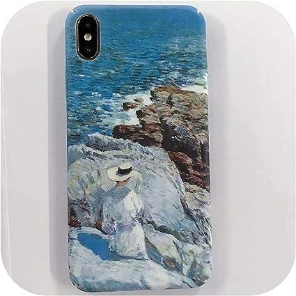 Cover rigida per iPhone X XS Max XR blu mare Cover per iPhone 8 7 ...