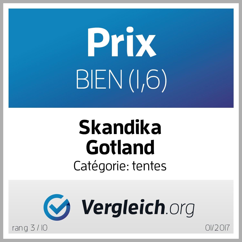 skandika Gotland 5 Personen Familienzelt mit eingen/ähtem Boden und 5.000 mm Wassers/äule
