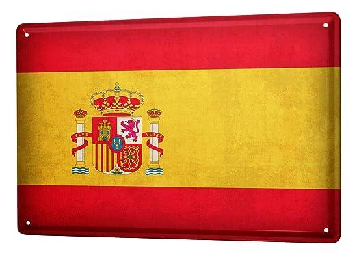 LEotiE SINCE 2004 Cartel Letrero de Chapa XXL Agencia De Viajes Vacaciones Bandera de España