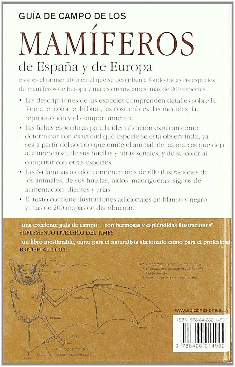GUIA CAMPO MAMÍFEROS DE ESPAÑA Y EUROPA GUIAS DEL NATURALISTA ...