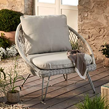 Impressionen Living Gartensessel Lounge Korbsessel Mit Kissen