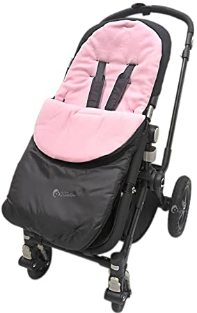 Buggy Universal Footmuff Cosy Toes Fits All Pushchair Stroller Pink Rose