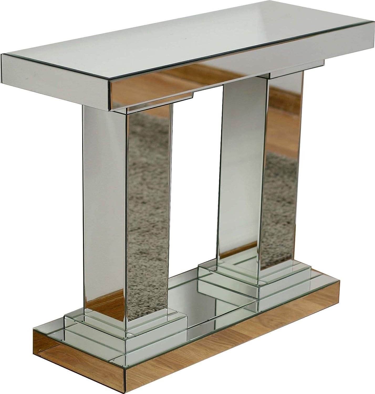 DRW Mesa recibidor Espejo Estilo columnas 80.5x80x30 cm: Amazon.es ...