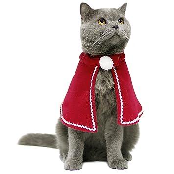 Christmas Cat Cloak, Legendog Christmas Cat Costume Cute Adjustable Santa  Claus Clothes Pet Hoodie Coat - Christmas Cat Cloak, Legendog Christmas Cat Costume Cute Adjustable