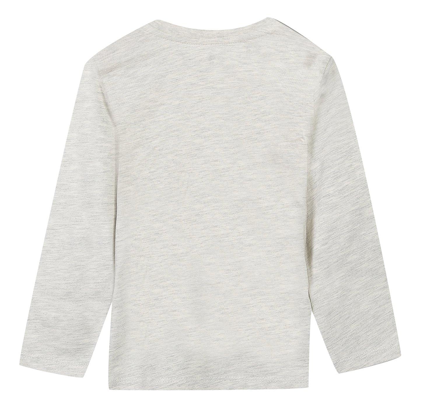 T-Shirt B/éb/é Gar/çon Grain de Bl/é Texte Fantaisie Gris