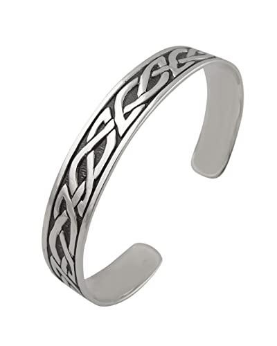 3b0e0bd0d3 Image Unavailable. Image not available for. Color: FashionJunkie4Life Sterling  Silver Celtic Knot Adjustable Cuff Bracelet