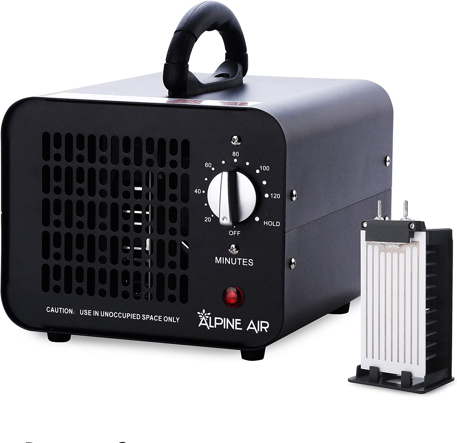 Alpine Air Commercial Ozone Generator – 6,000 mg/h | Professional O3 Air Purifier, Ozonator and Ionizer | Heavy Duty Air Cleaner, Deodorizer and Sterilizer | Best for Odor Stop Control