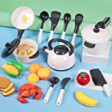 iPlay, iLearn Kids Kitchen Accessories Playset, Pretend Play Cooking Set, Toy Pots N Pans, Cookware, Utensils…