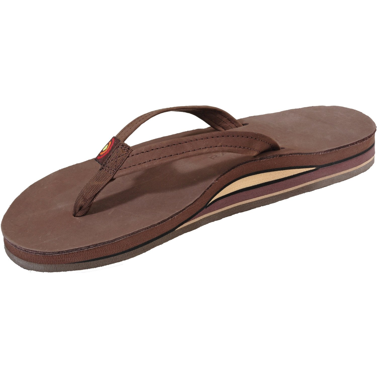20a40622049a Rainbow Sandals Womens Premier Leather Double Layer Arch Narrow Strap -  Expresso L10  Amazon.co.uk  Shoes   Bags